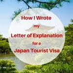 How I Wrote my Letter of Explanation Japan Tourist Visa