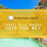iTravelRox Nominated for Promo Code PH Travel Blog Awards 2017