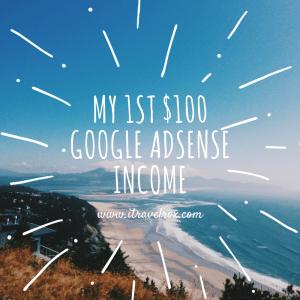 first google adsense income