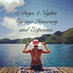 5 days 4 nights siargao itinerary and expenses