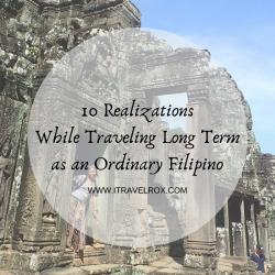 10 realizations while traveling long term as an ordinary filpino