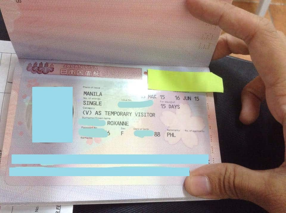 japan visa without itr