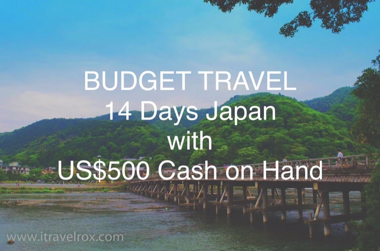 Budget Japan Travel Itinerary 14 Days with 500 Dollars On Hand