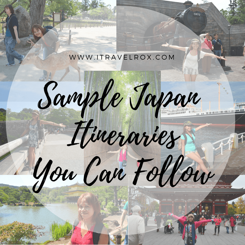 sample japan trip itineraries you can follow