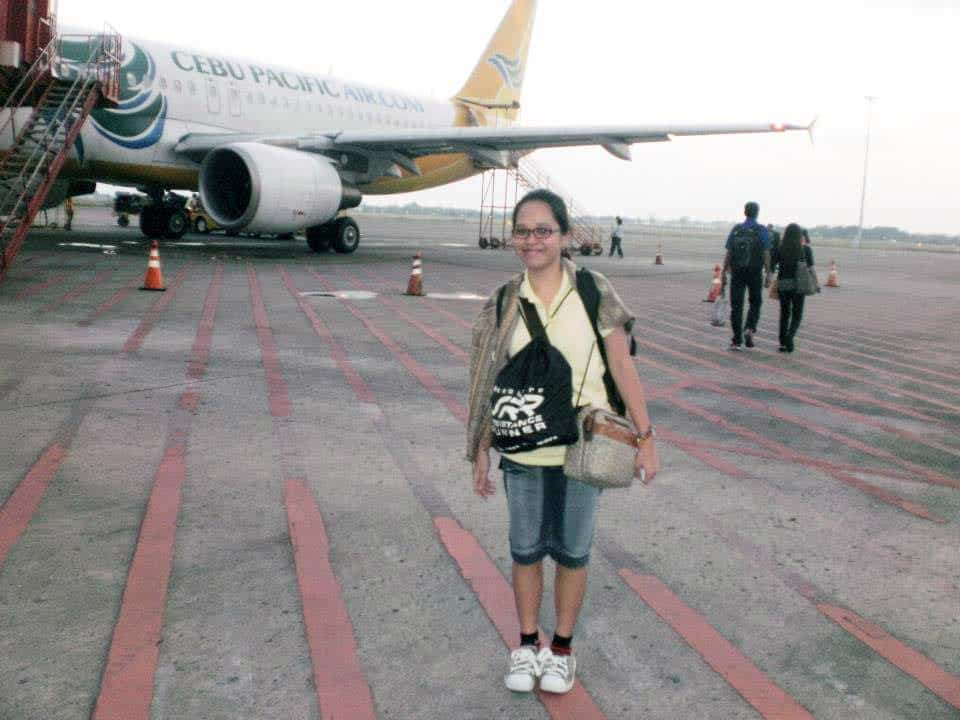 First Airplane Ride to Manila in November 2012