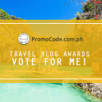 iTravelRox Nominated for Promo Code PH Travel Blog Awards 2017