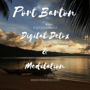 port barton palawan digital detox meditation