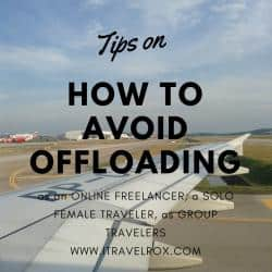 tips on how to avoid offloading