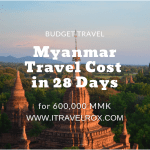Myanmar Travel Cost in 28 Days | How Much to Spend in Myanmar?