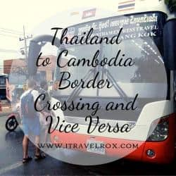 Thailand to Cambodia Border Crossing and VV