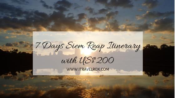 7 days siem reap cambodia itinerary