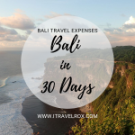 Bali Travel Expenses in 30 Days | Bali, Indonesia Travel