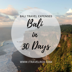 bali travel expenses indonesia