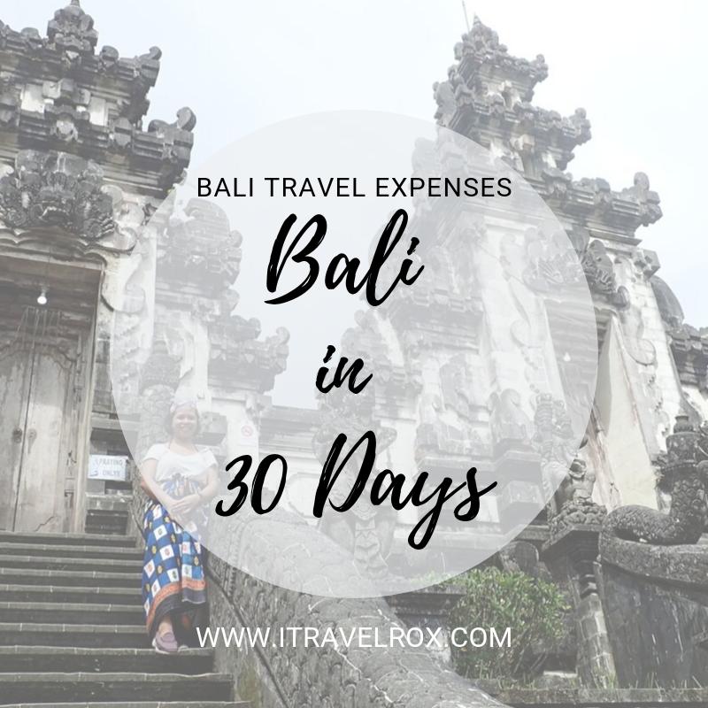 bali travel expenses indonesia